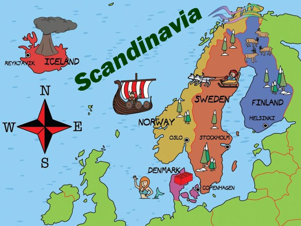 Cartina Politica Norvegia.Pin Su Geografia 2 Europa Politica