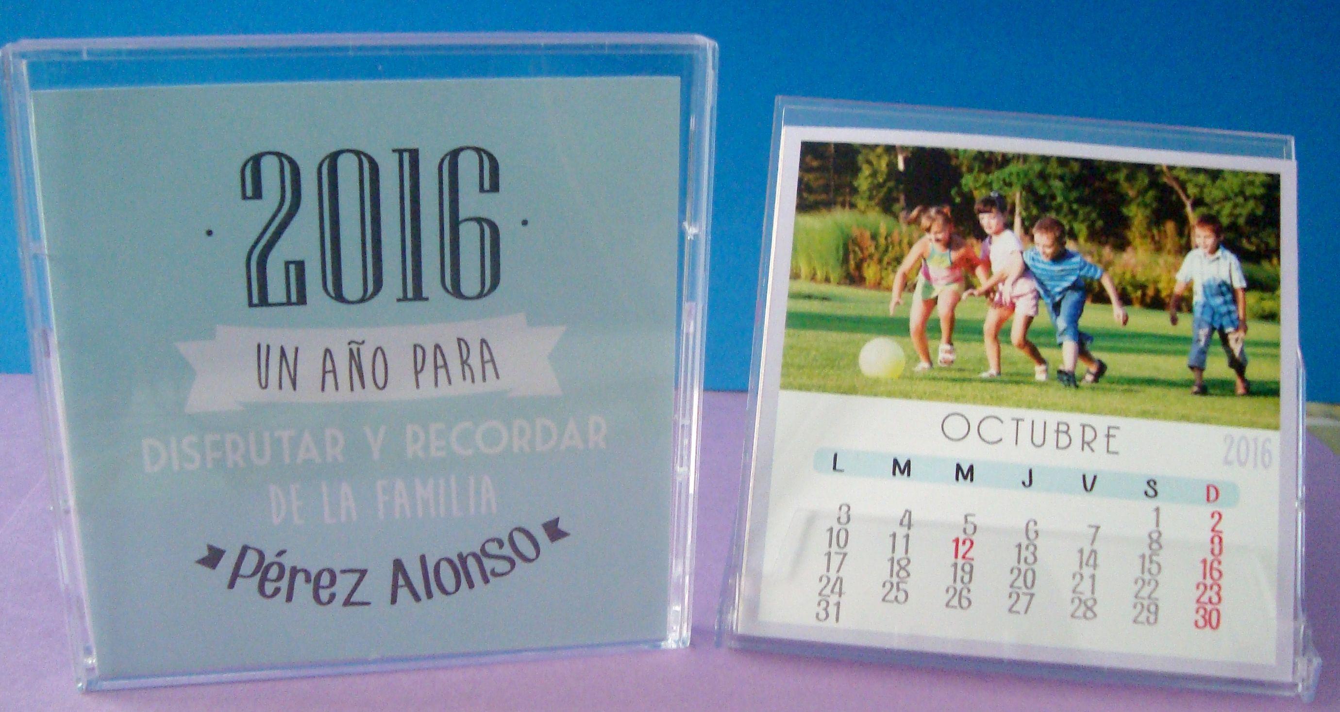 Calendario en caja cd pequeño