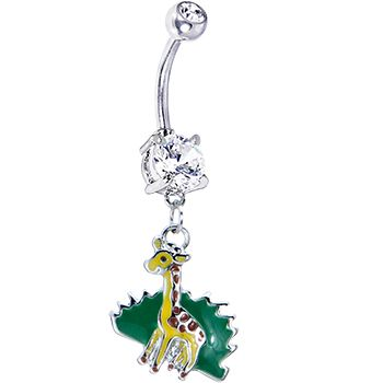 Surgical Steel Giraffe Belly Ring BRE MARIE THIS IS THE LOOK