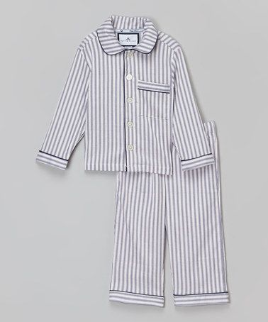 b4d52345b7 Another great find on  zulily! Navy French Ticking Pajama Set ...