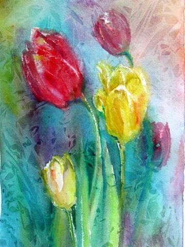 Tulips floweryspiration pinterest watercolor paintings and artist paintings of early spring mightylinksfo