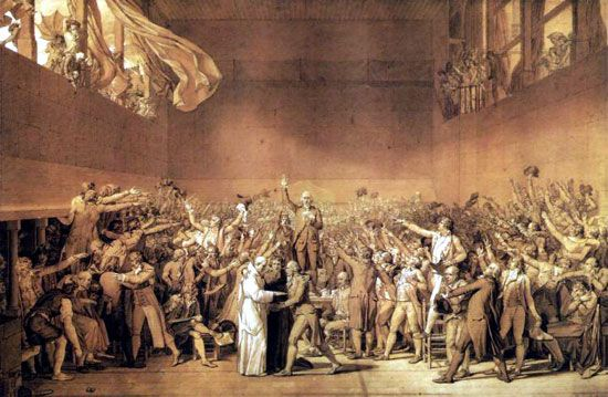 The Tennis Court Oath By Jacques Louis David 1789 1791 French Revolution Tennis Court Oath