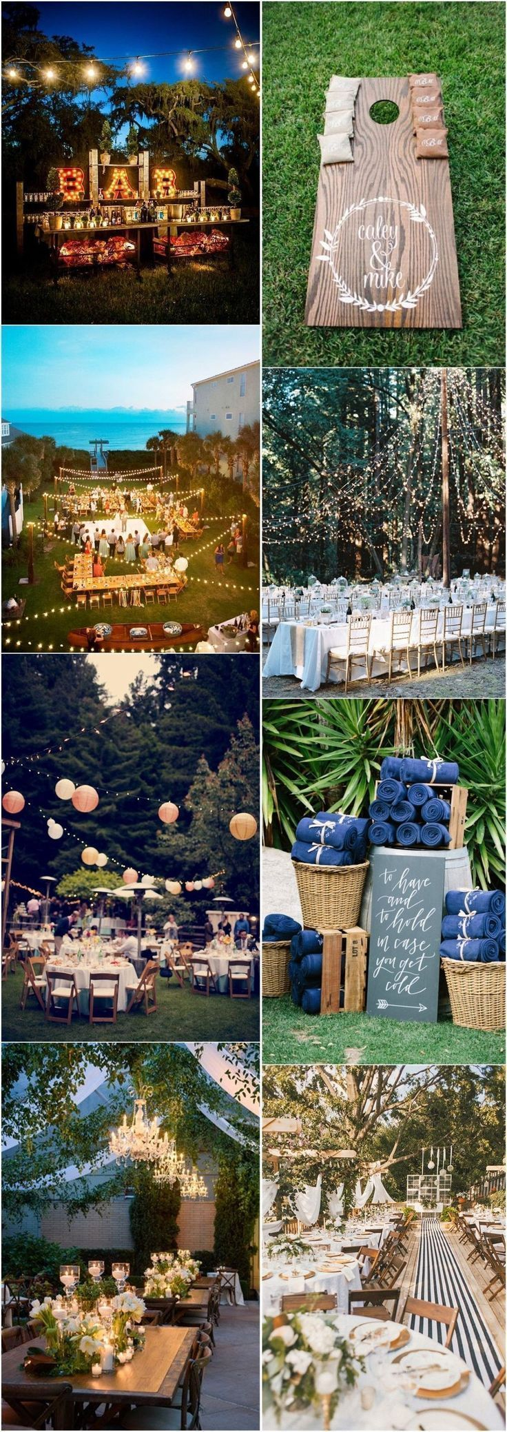 Fall wedding decoration ideas cheap  Wedding Decorations   Rustic Backyard Wedding Decoration Ideas on