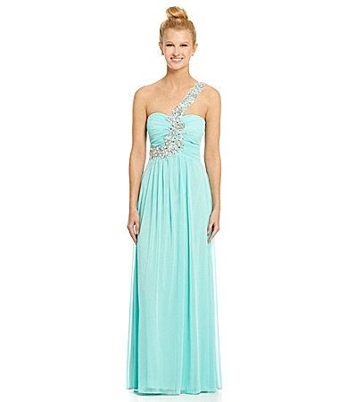 B Darlin OneShoulder Beaded Gown #Dillards prom?? | My Style ...