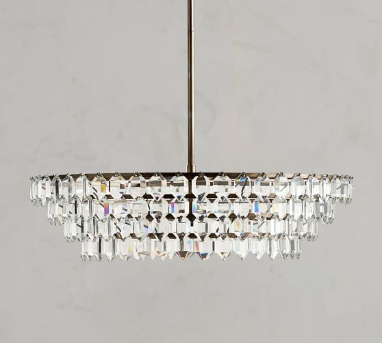 Alma Crystal Chandelier With Images Crystal Chandelier Round Chandelier