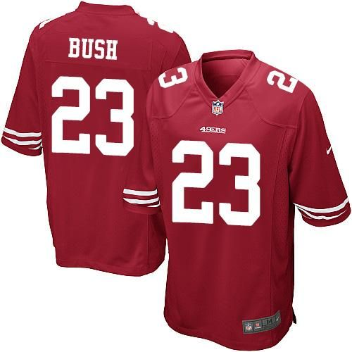 575306358c8 nfl san francisco 49ers 23 bush red elite jersey