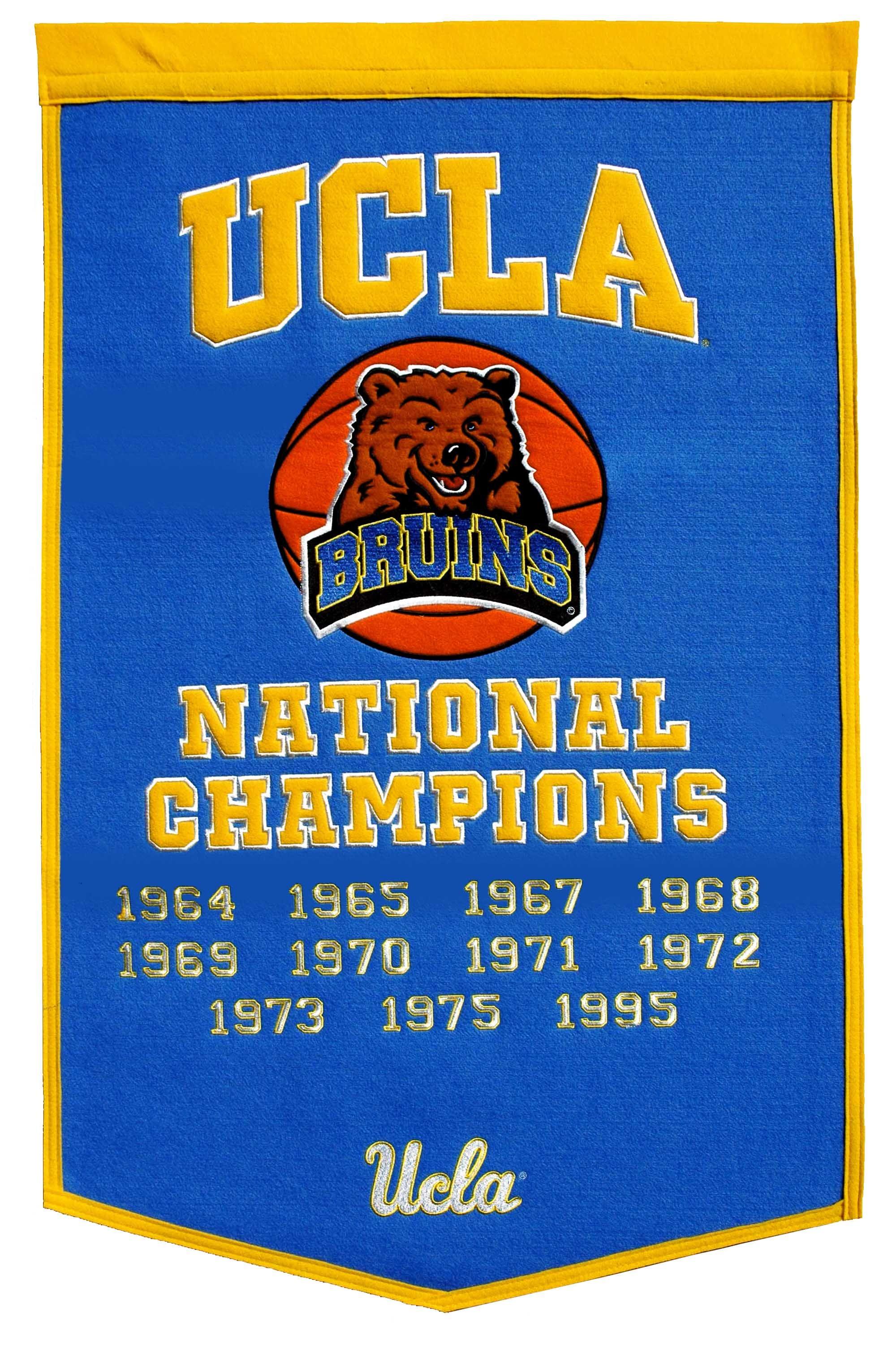 National champions banner ucla bruins ucla ucla bruins