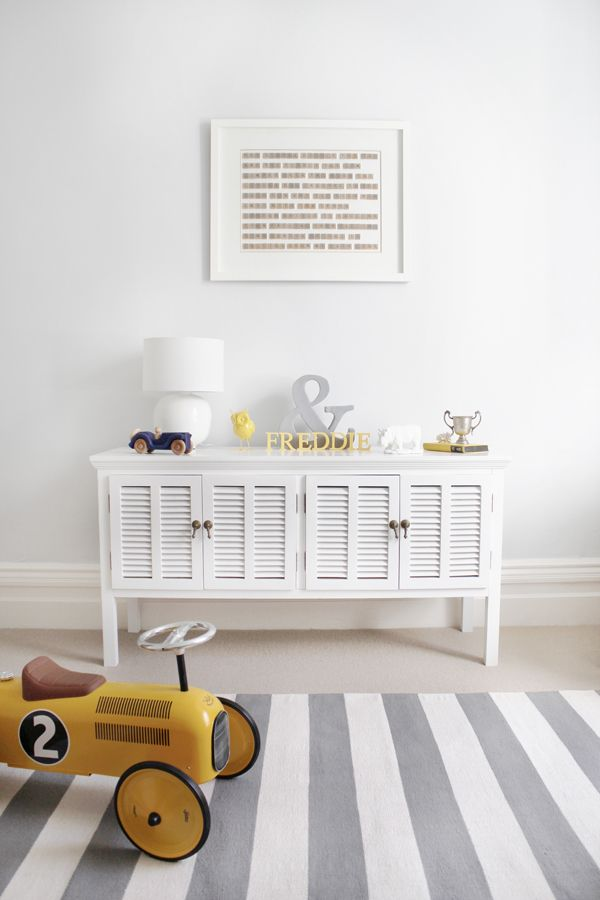 Fred S Nursery On Lay Baby All White With Touches Of Grey And Yellow