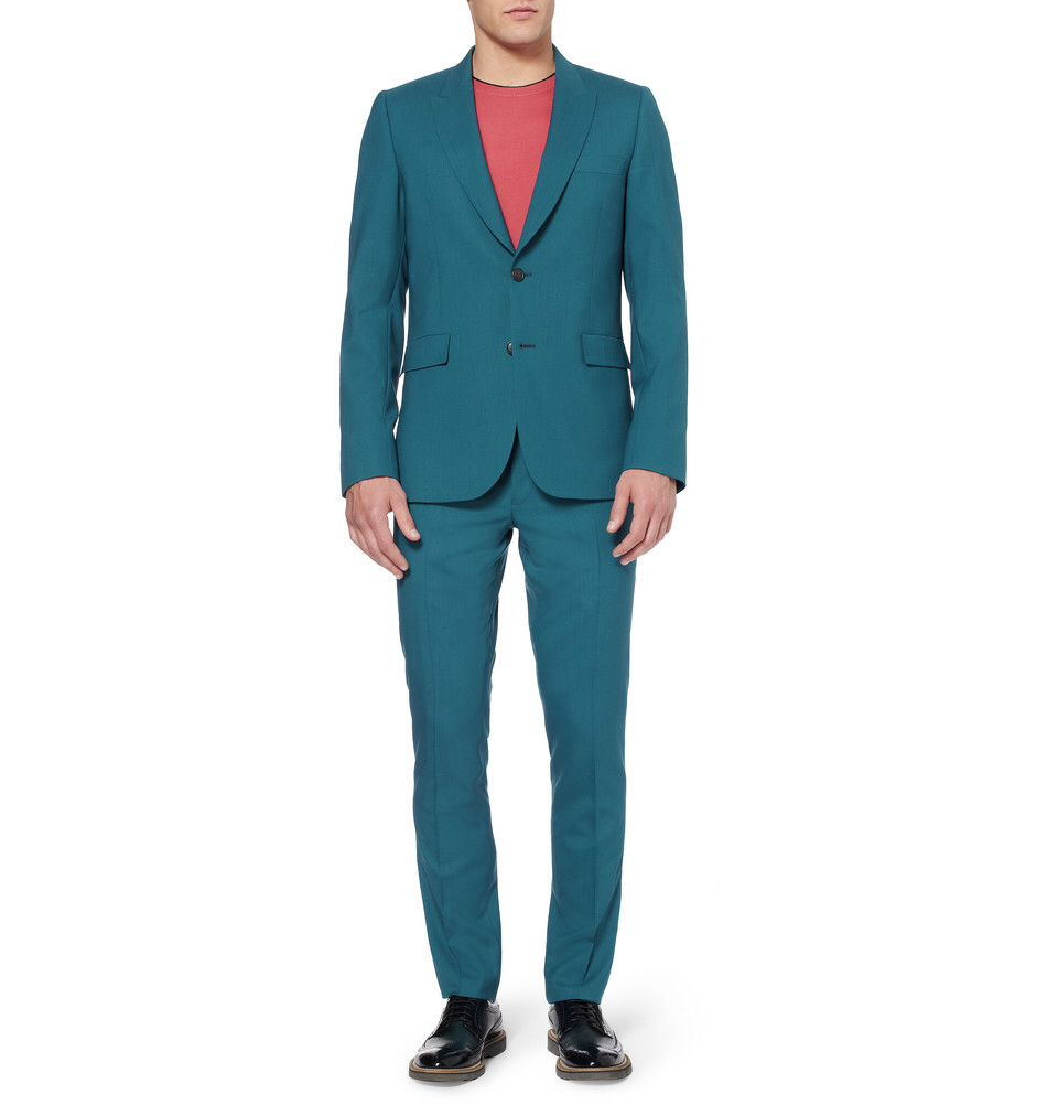 Nice teal suit from Paul Smith | Men\'s Fashion | Pinterest | Teal suit