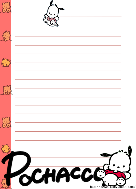 Pochacco Note Sheet