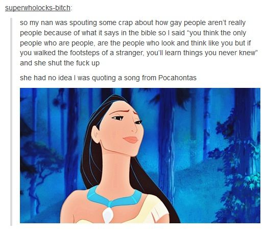 The only time Disney can ever come in handy. Ever.