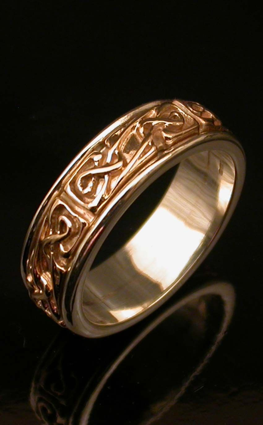 Celtic white band rotating ring by scotweb tartan mill