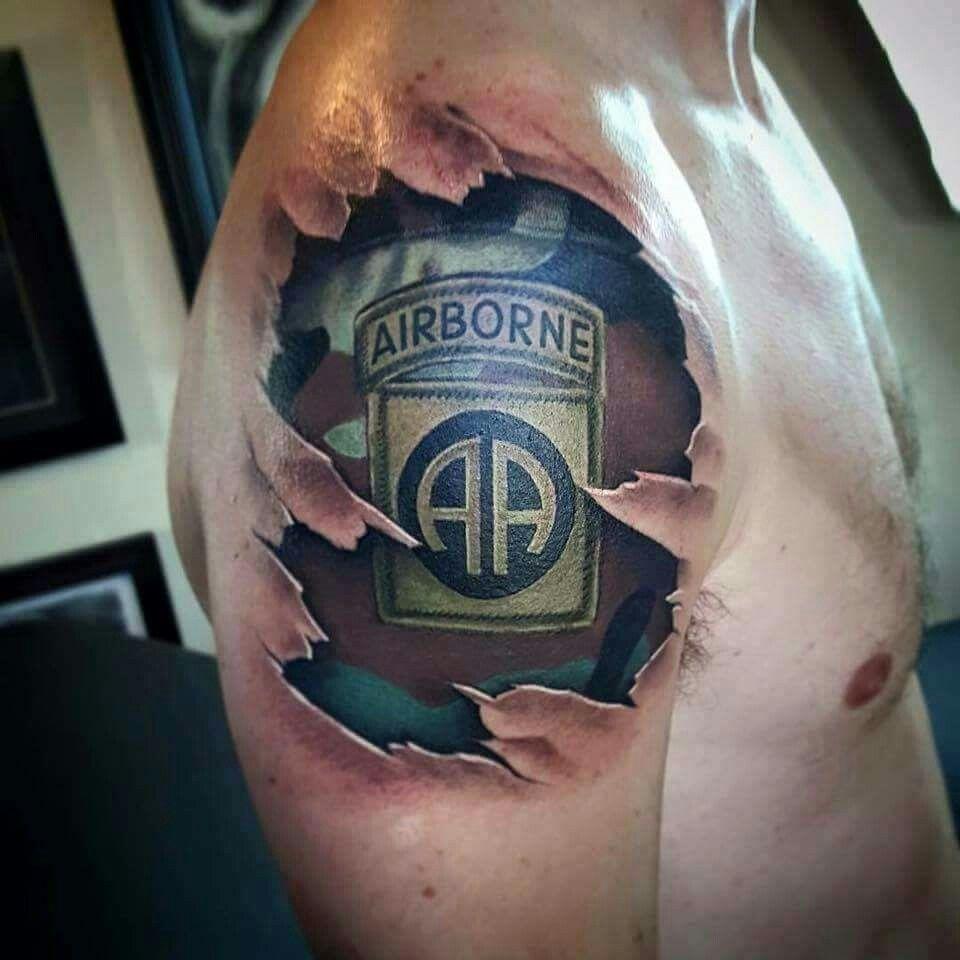 82nd patch tat army tattoos