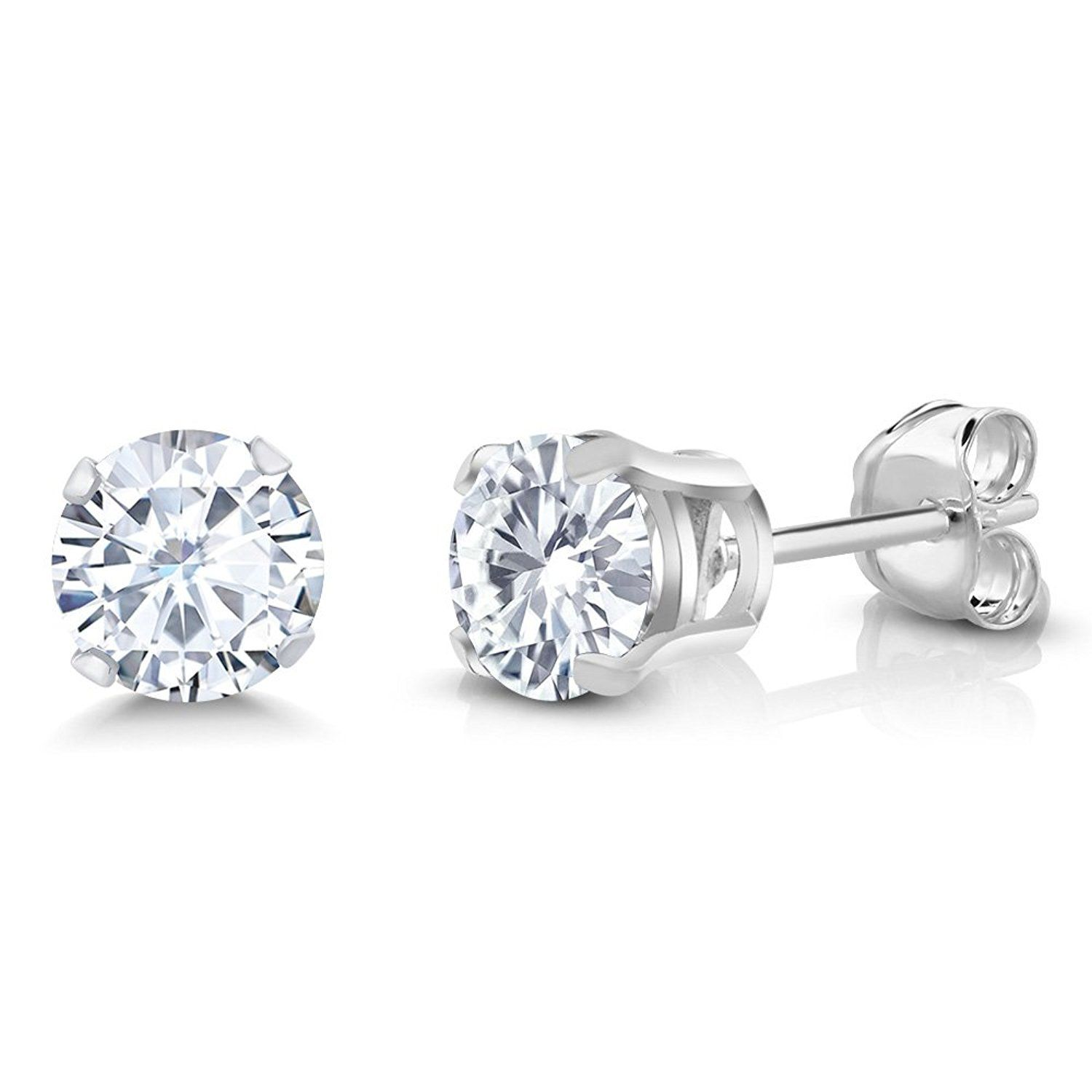 gold moissanite pinterest h earrings products star pin stud