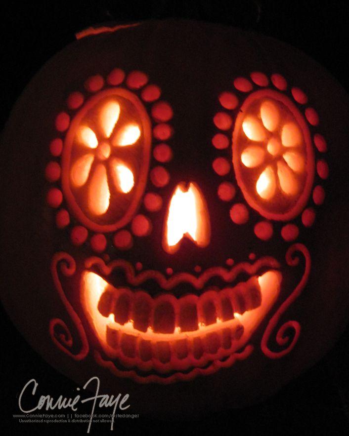 Dia de los muertos pumpkin by conniefaye on deviantart dia de los muertos pumpkin by conniefaye on deviantart pronofoot35fo Images
