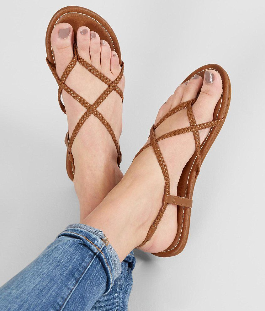 a5af64ba Kangol Womens Braid Sandals Shoes Buckle Fastening Ankle Strap Leather # Kangol #Flat   ebay   Braided sandals, Shoes, Sandals