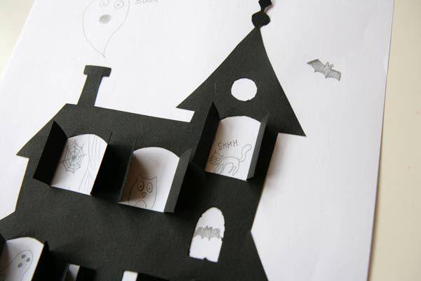 Maison à Hanter Pour Les Enfants Maison Dessin Activité