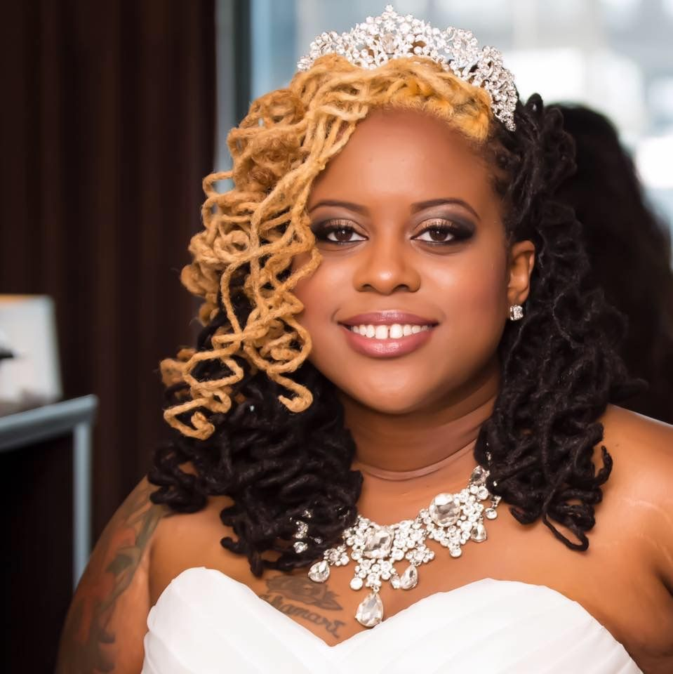 my locs on my wedding day! #locstyles #curlylocs #locs | lovely