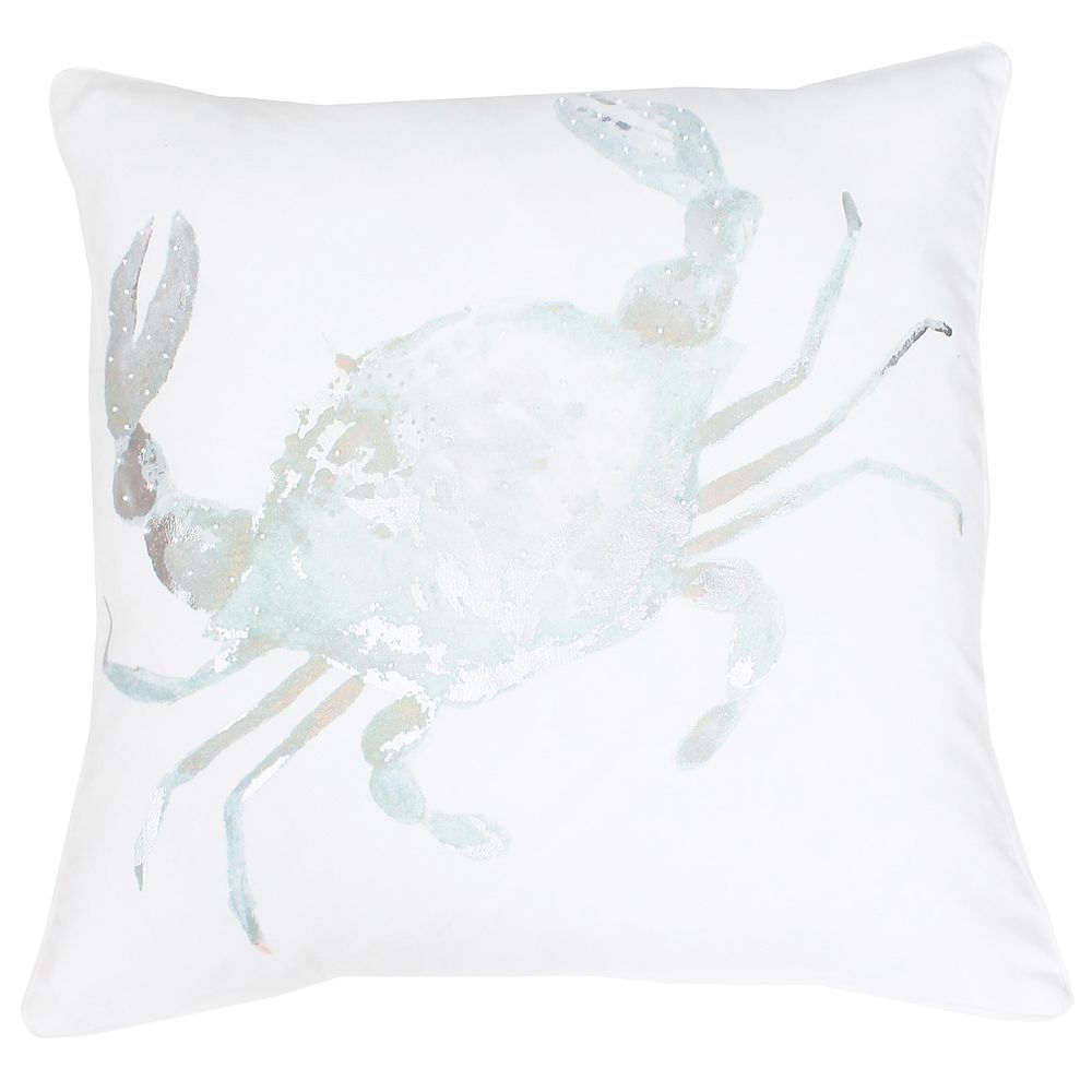 Thro by Marlo Lorenz Corey Crab Throw Pillow, Blue | Throw pillows ...