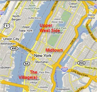 USA New York City Upper West Side Photo NYC Map Pinterest