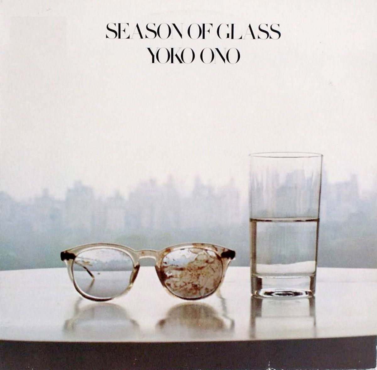 TIL Yoko Ono Used John Lennons Blood Stained Glasses From The Day He Was Shot As A Prop For Her Album Art