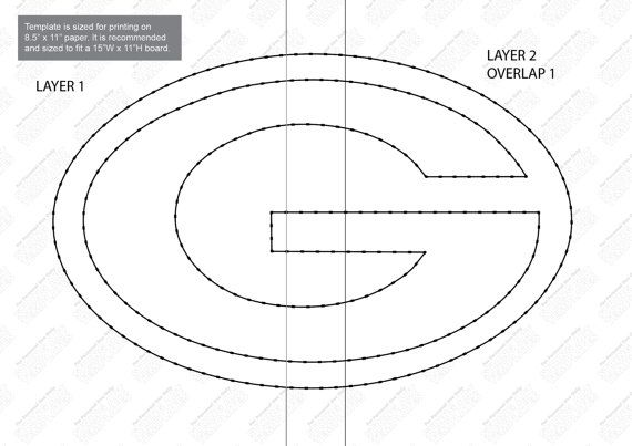 Green Bay Packers String Art Template By Stringarttemplate String Art Templates String Art
