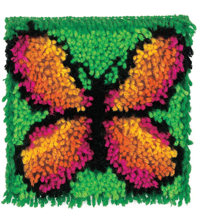 8 X 8 Wonderart Butterfly Latch Hook Kit