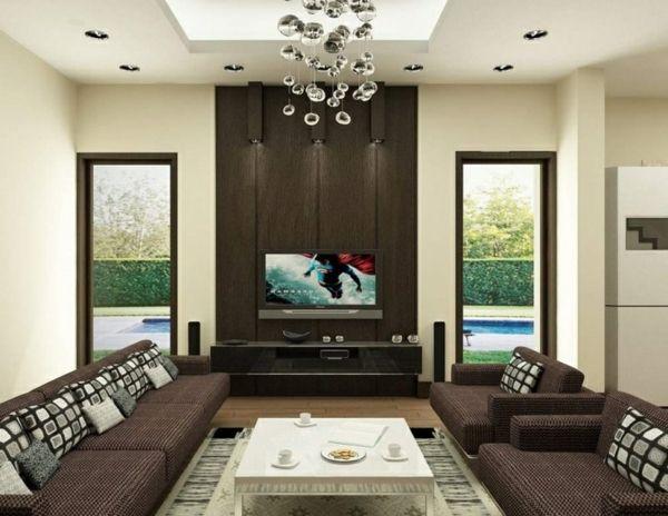 wohnzimmer farbgestaltung - modern und weiß - Wohnzimmer ...