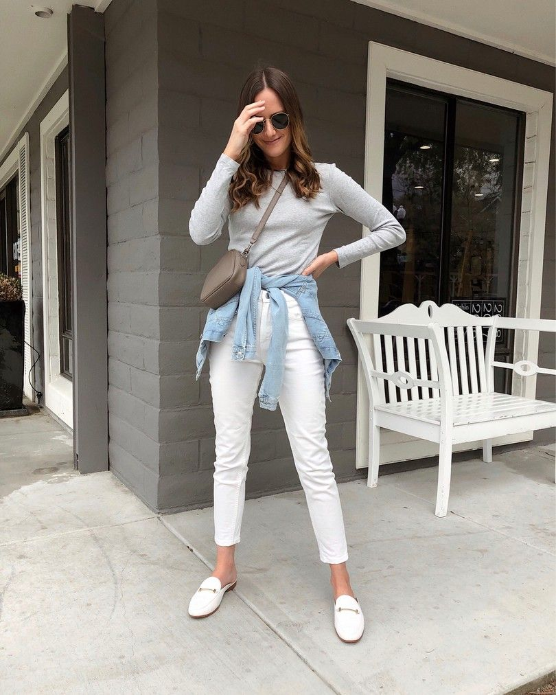 girlmeetsgold  neutral spring outfit, casual spring outfit
