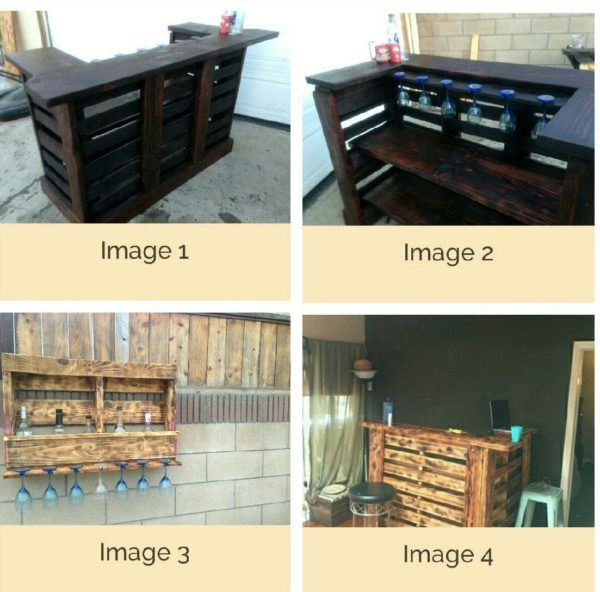 Pallet Bar Wall Rack Ideas You Can Do Easily | Terraced backyard ...