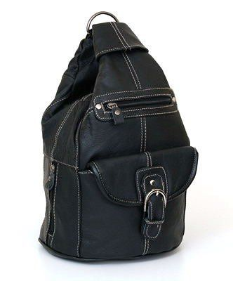 7cd569b9c Convertible Back Pack Purse Mid Size Tear Drop Shoulder Bag Backpack Sling  Bag. Genuine Leather