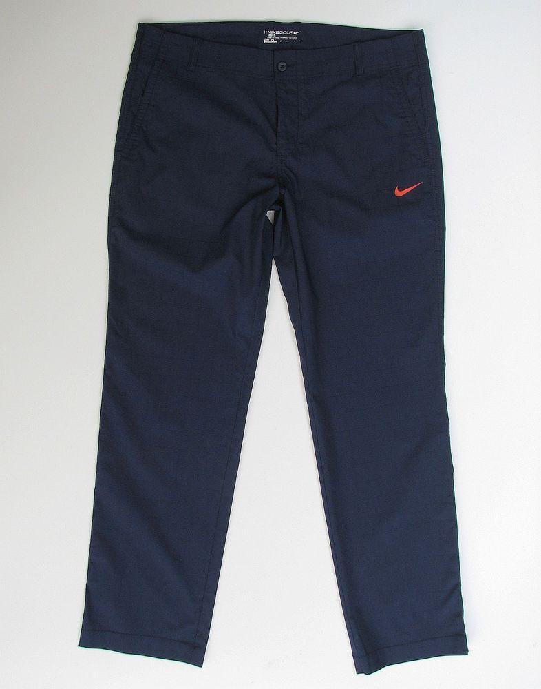 Nike golf sport dri fit mens 36 x 32 blue check pants