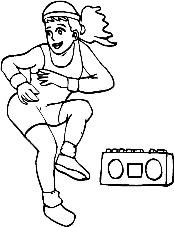 Aerobic Exercise Coloring Pages Kids Play Color Coloring Pages Aerobic Exercise Aerobics