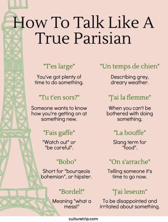 How To Talk Like A True Parisian Le Francais Pinterest Parisians Language And Learning French