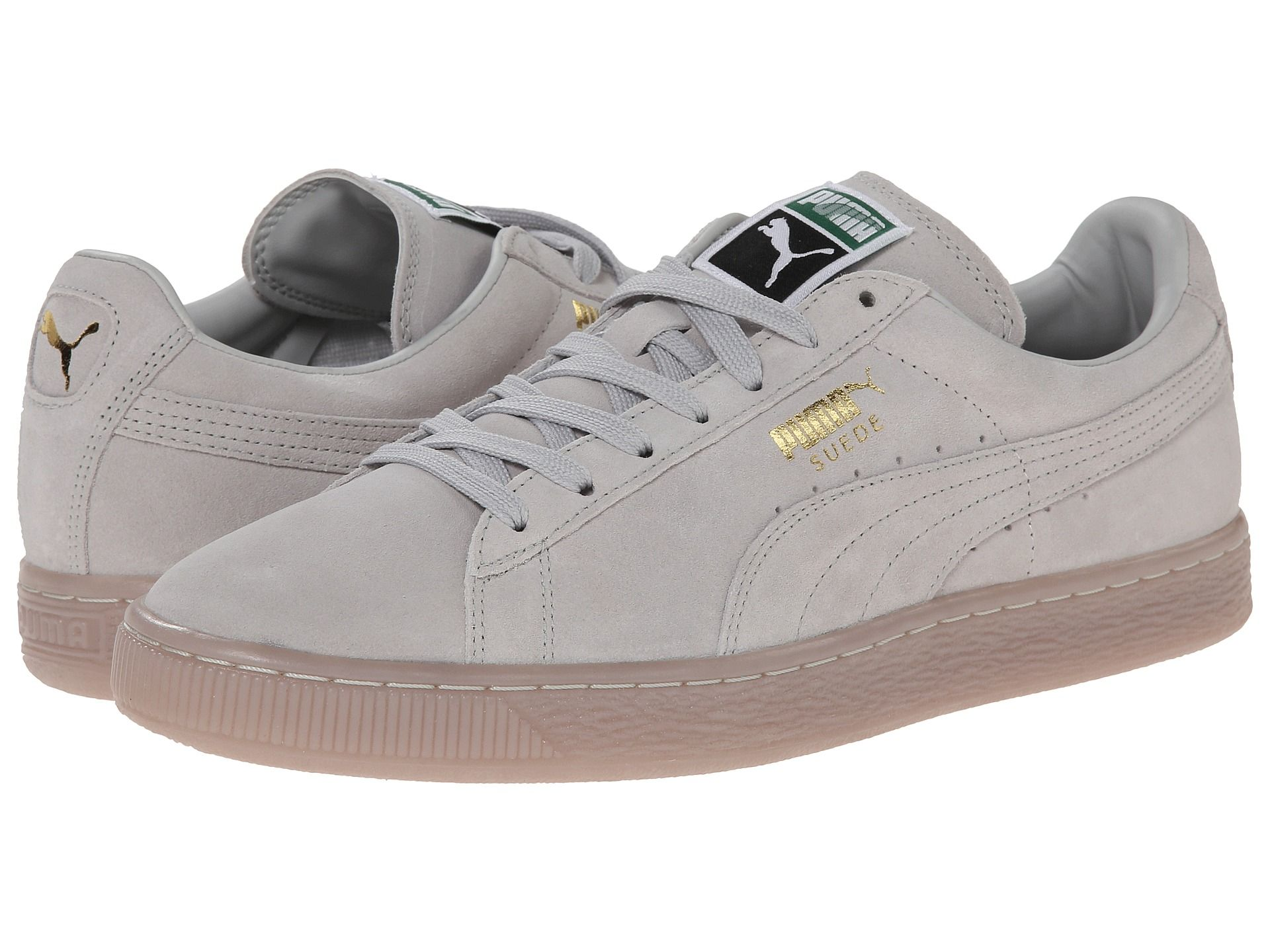Suede classic iced gold foil, PUMA, Shoes, Black