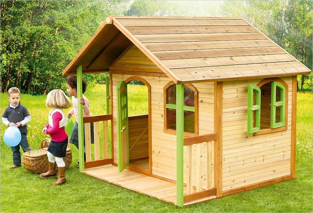 Maisonnette pour enfant en bois Fantasia 100 Rouge Exit Toys - Maisonnette En Bois Avec Bac A Sable