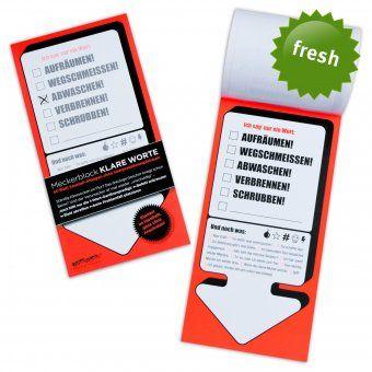 Meckerblock Klare Worte Design3000 De Geschenke Finden Geschenke Shop Kleine Geschenke
