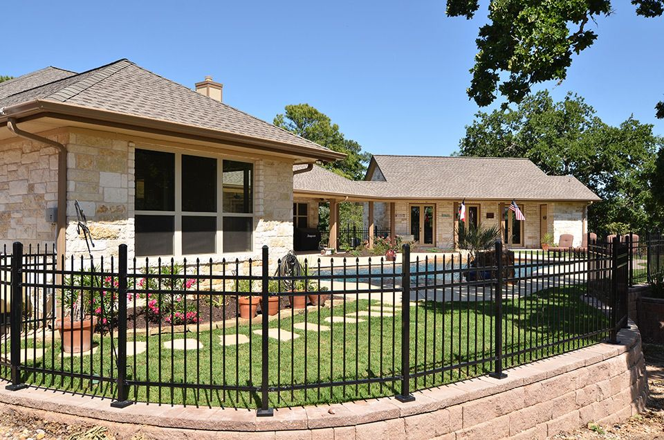 Fence on top of retaining wall backyard fence Pinterest Fences