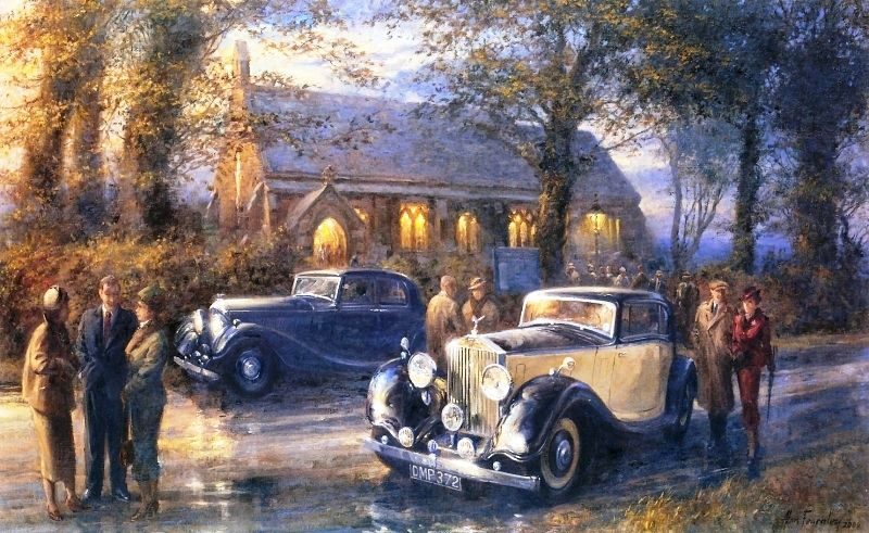 Alan Fearnley 1942 Retro And Classic Car Car Paintings Car Painting Automotive Artwork