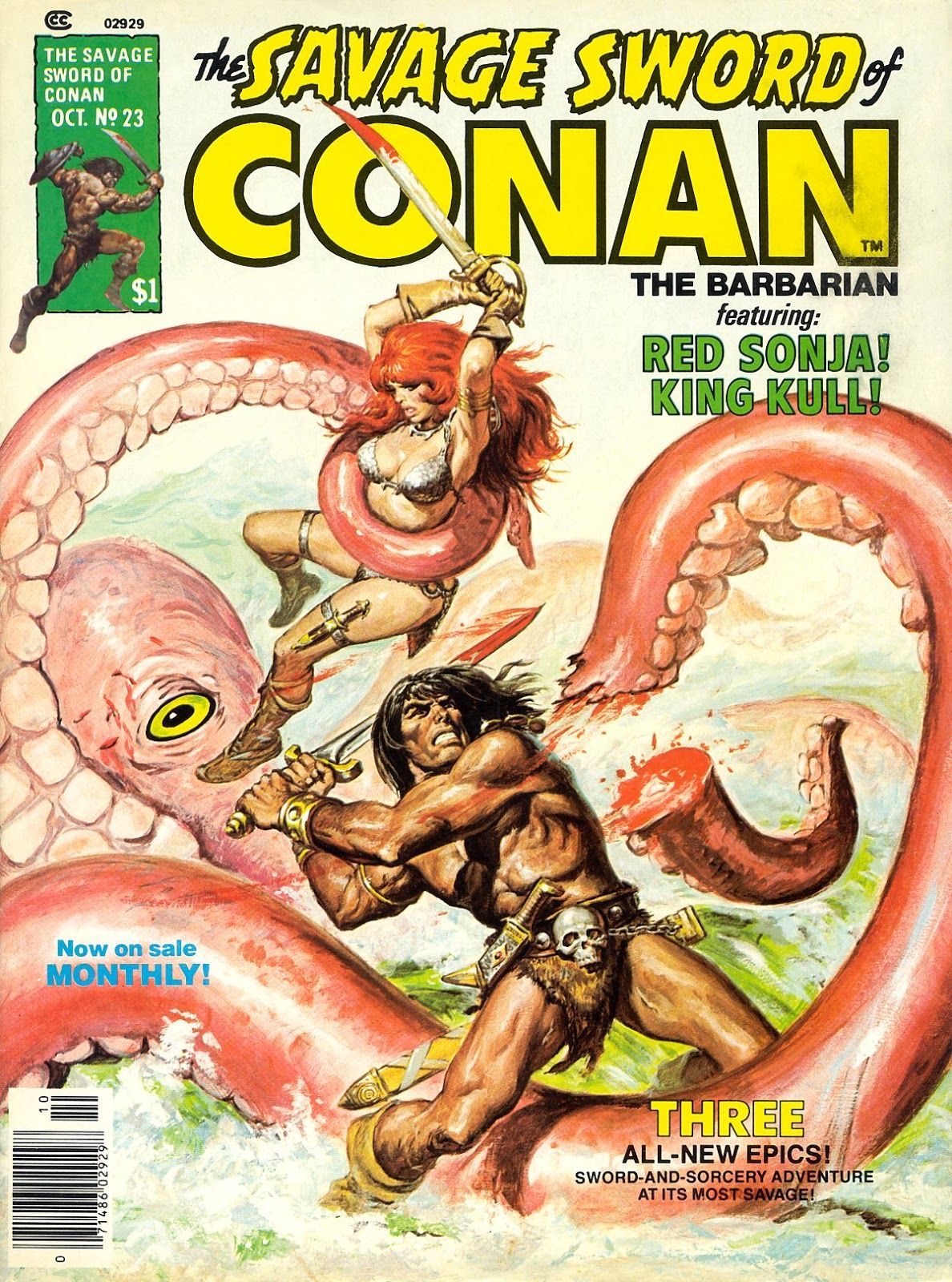 The Savage Sword Of Conan Issue #23 - Read The Savage Sword Of Conan Issue # 23 comic online in high qua… | Conan the barbarian, Conan the barbarian  comic, Barbarian