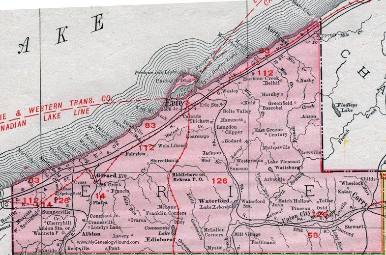 Erie county pennsylvania 1911 map corry union city waterford erie county pennsylvania 1911 map by rand mcnally corry union city pa publicscrutiny Images
