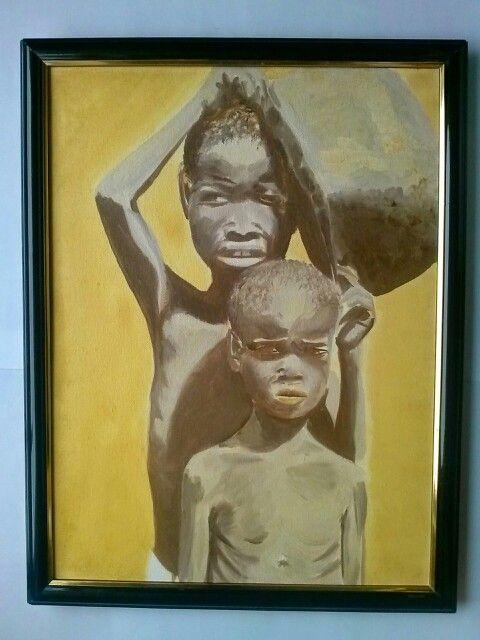 África - óleo sobre tela - Fábio Vidal