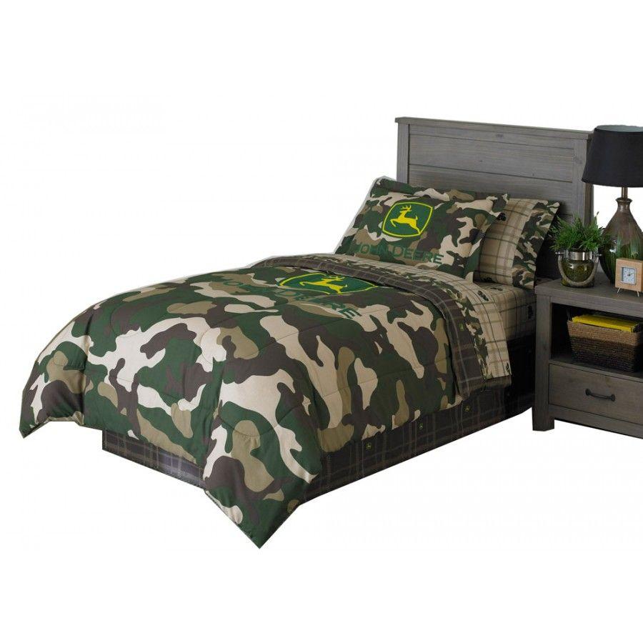 John Deere Camo Comforter Twin Rungreen