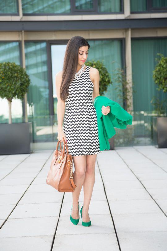 4.13 zig zags (J Crew coat + DivaNY zigzag dress + Lauren Elan necklace + Topshop 'gwenda' heels + Michael Kors tote + Dior 'plaza' nail polish) <<<blasfemmes
