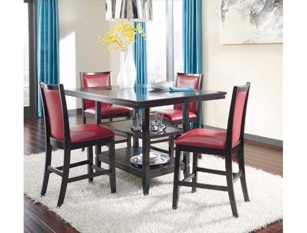 Trishelle Dark Brown 5 Piece Dining Room Set Bellagio Furniture Store Houston  Texas Www.BellagioFurniture Part 47