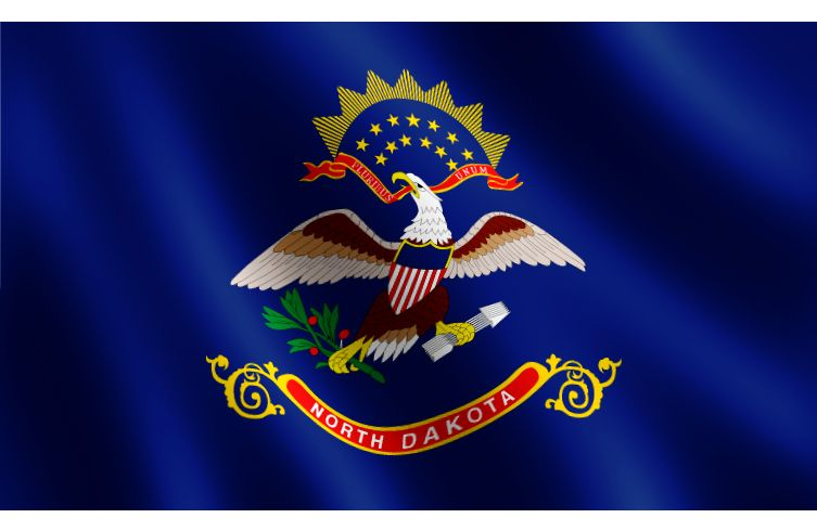 North dakota flag historical newspaper north dakota