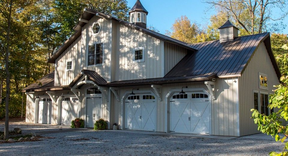 This Hobby Building Was Built For Don Of King Nc Special Features Morton S Hi Rib Steel Cupola Porch With Images Building A House Metal Buildings Morton Building Homes