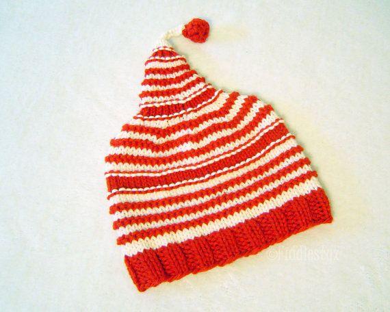 Knitting Pattern - Christmas Hat Pattern - the PATTI Hat (Newborn ... e4466239d015