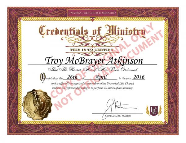Free Online Ordination Get Ordained With Universal Life Church Universal Life Church Wedding Officiant Minister