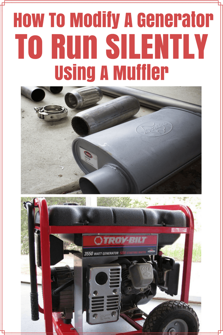 How To Modify Your Generator To Run Silently With A Muffler